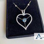 Brilliant Algordanza Memorial Diamond in Heart Pendant