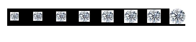 Single Ash Diamond Sizes Algordanza UK