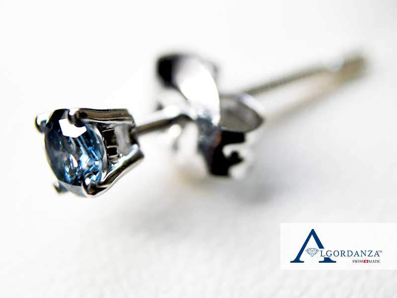 Ash Diamond in White Gold Earring Algordanza UK