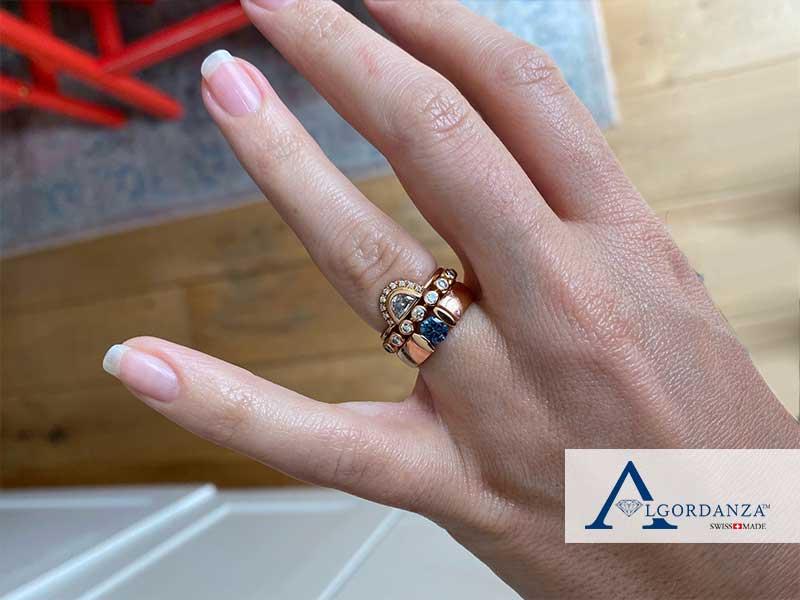 1 carat Cremation Diamond set in Gold Band Ring