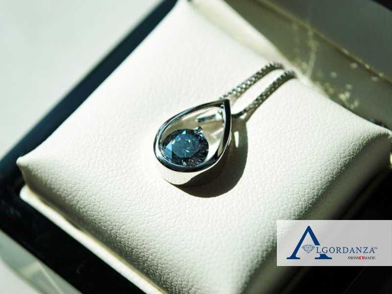 Teardrop Pendant Ash Diamond Algordanza UK