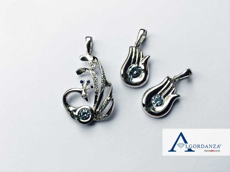 Unique Pendants Ash Diamonds Algordanza UK